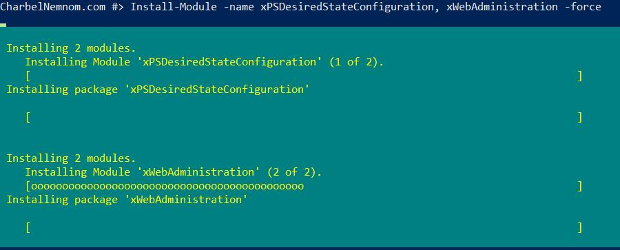 Installing module 'xWebAdministration'