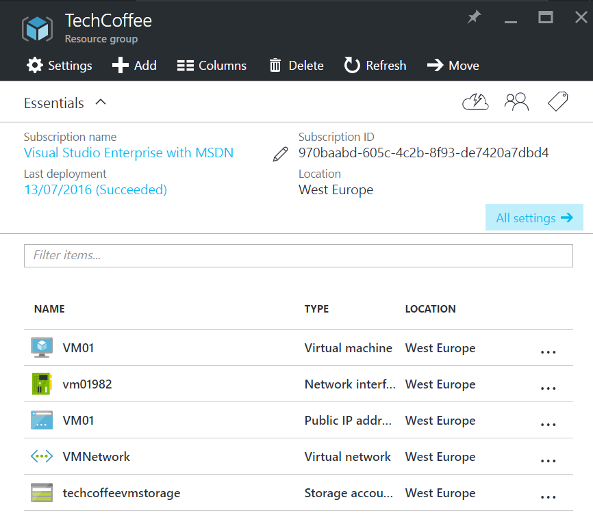 Deploy an Azure VM from a generalized image in Azure RM