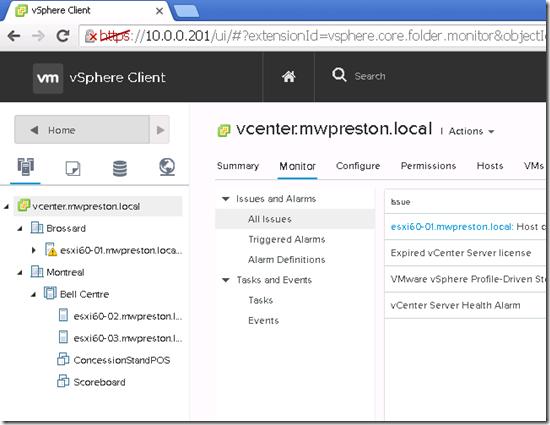 vSphere client