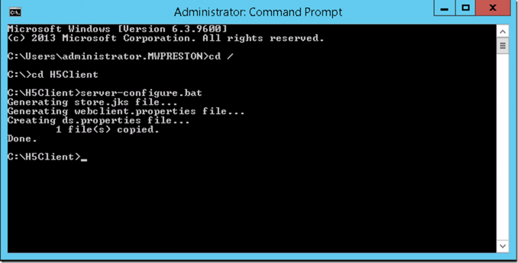 administrator command window view