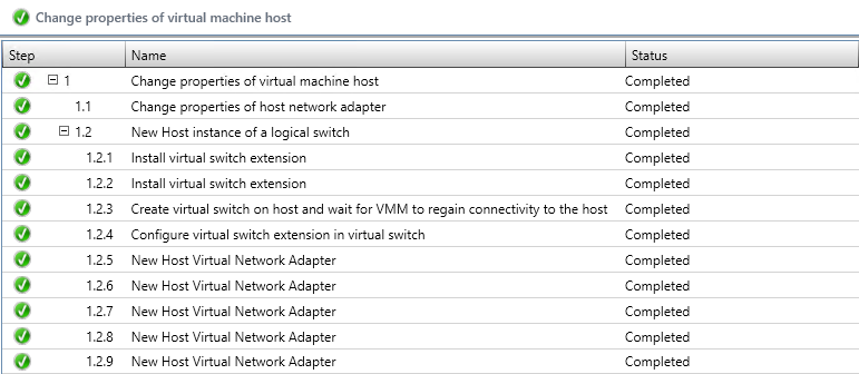 properies of virtual machine host
