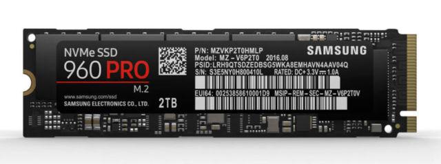 Samsung 960 Pro M.2 NVMe SSDs