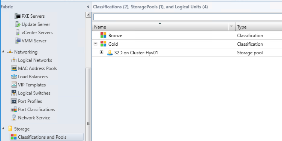 Storage Pool classification
