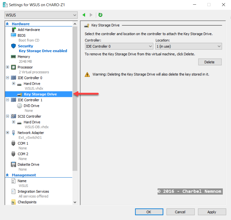 Settings for WSUS