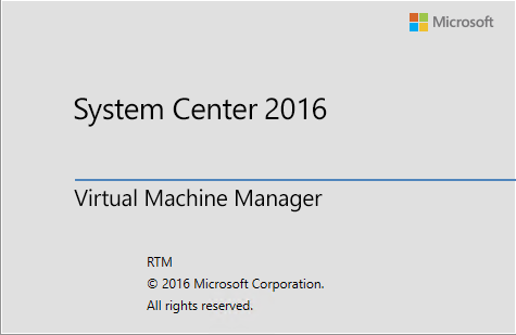 Install SCVMM 2016 on Windows Server 2016 Server Core