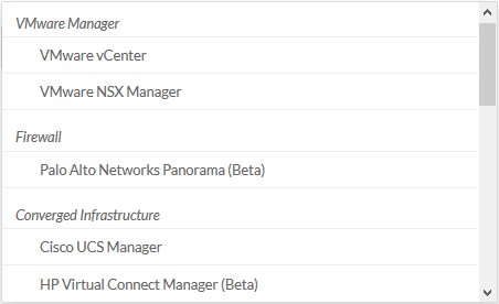 vRealize Network Insight Source Type