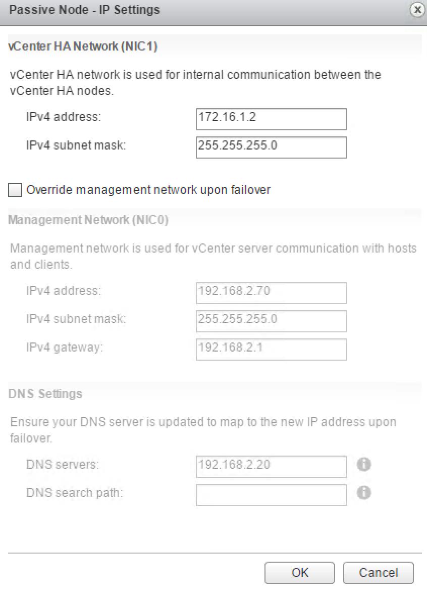 Passive Node IP Settings