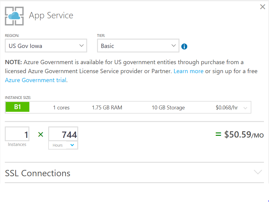 Azure Government services