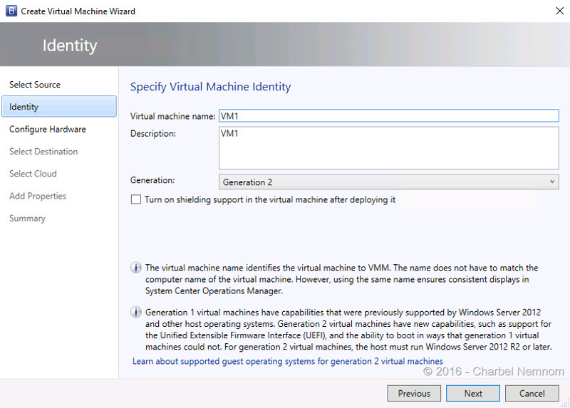 Create Virtual Machine Wizard