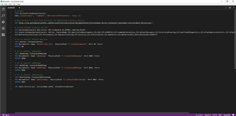 Visual Studio view