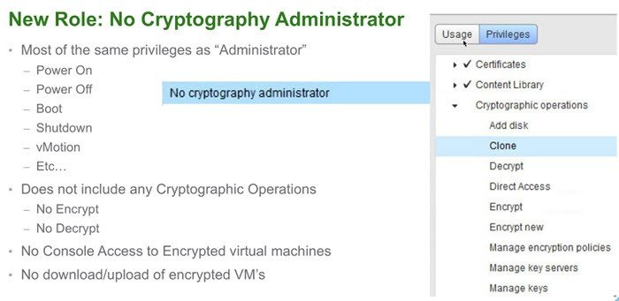 new role no cryptography administrator