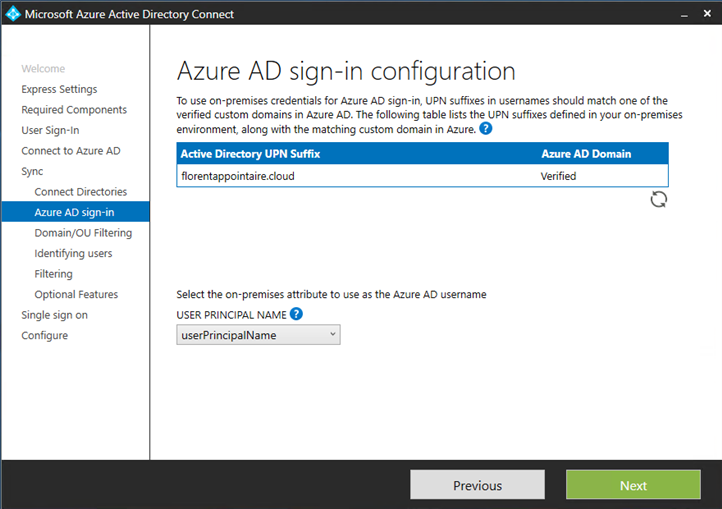 Microsoft Azure AD sign-in configuration