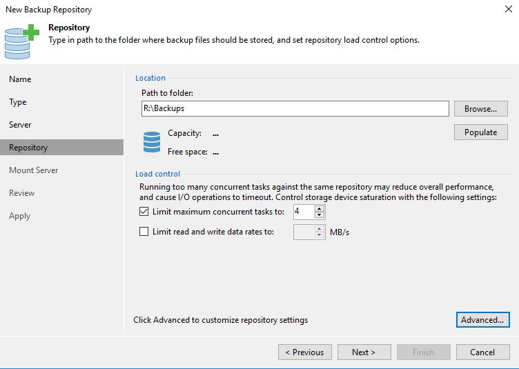 New Backup Repository