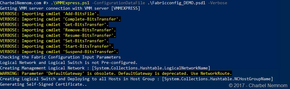 VMM Express deployment