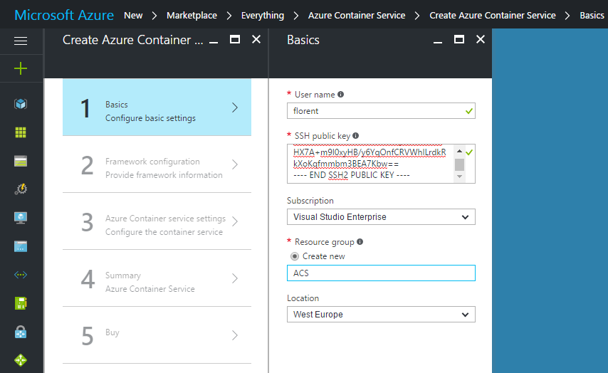 Create Azure Container Service