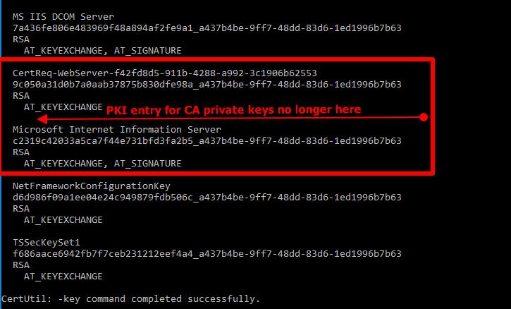 removing PKI certificate key