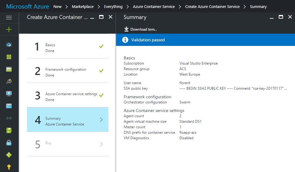 Azure Container Service Summary