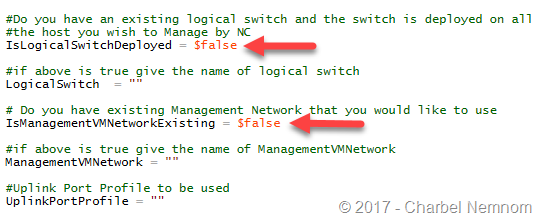 VMM express deploy the Logical switch and Management Network