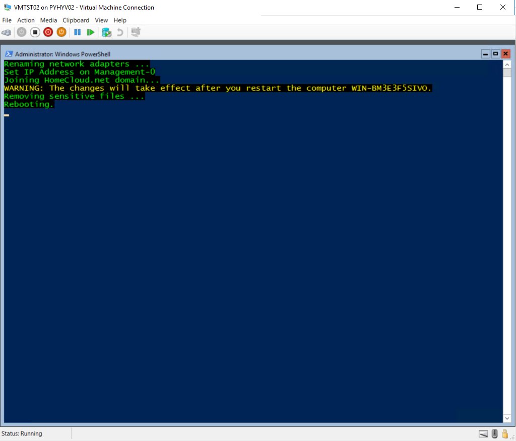 PowerShell script for Virtual Machine Connection