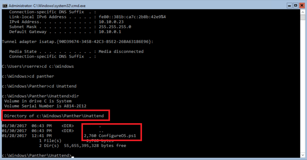 Windows commandlet
