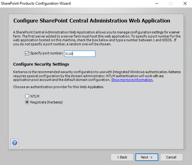Sharepoint Products Configuration Wizard Configure Sharepoint Central Administration Web Application