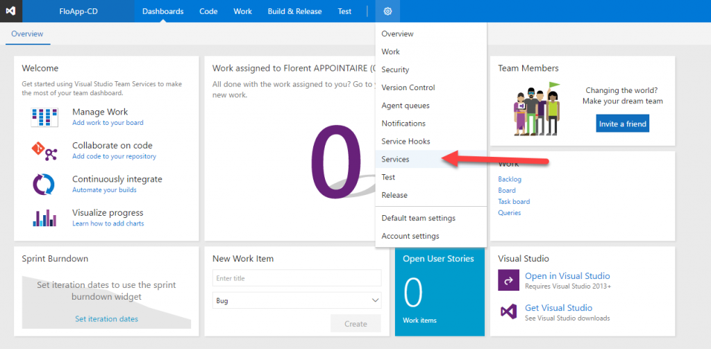 VSTS Settings Services