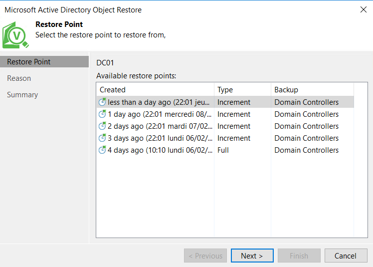 Microsoft Active Directory Object Restore