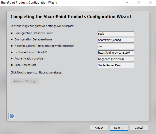 Sharepoint Products Configuration Wizard Completing the Sharepoint Products Configuration Wizard