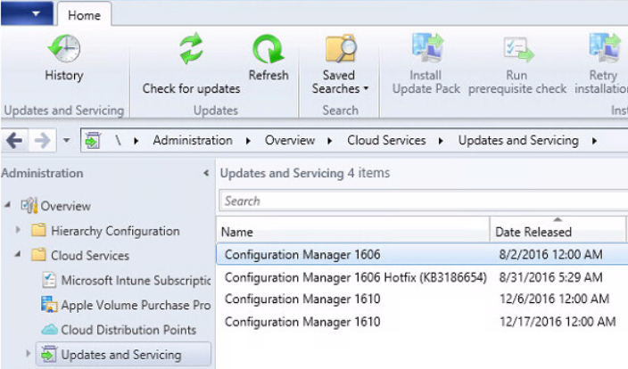 Installing System Center Configuration Manager 1610