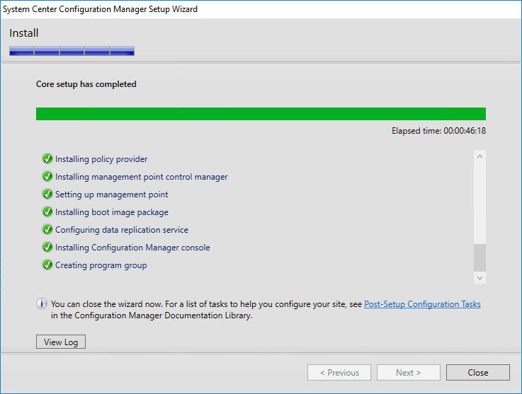 Installing System Center Configuration Manager 1610 (Current Branch