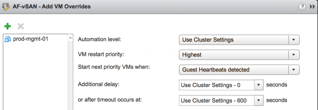 Add VM overrides settings