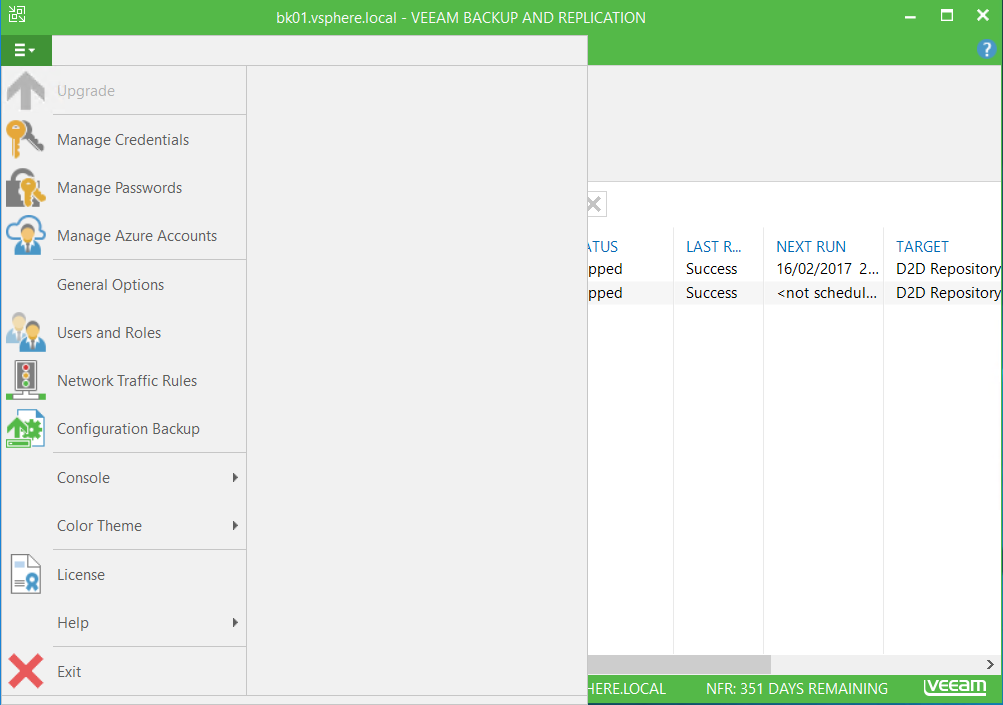 Veeam Backup and Replication and click on Users and Roles