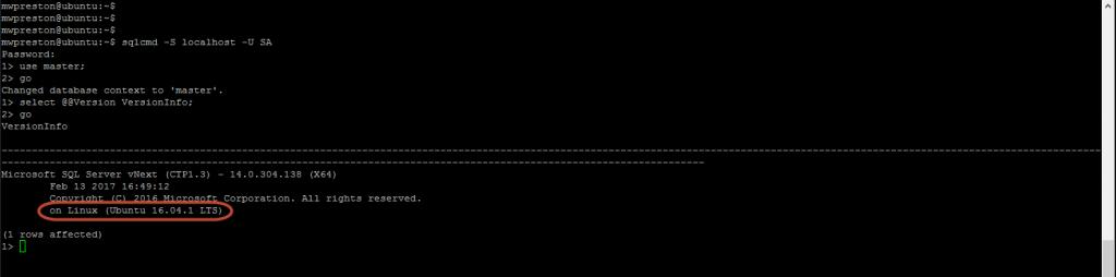 SQL Server on Ubuntu