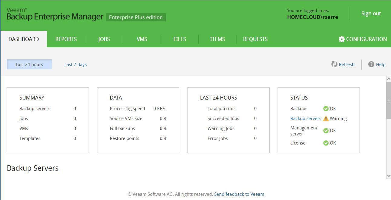 Veeam Backup Enterprise Manager | StarWind Blog