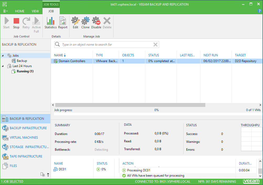 Veeam Backup and Replication Job tools