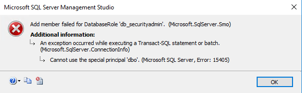 Microsoft SQL Server Management Studio window