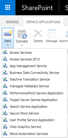 Sharepoint Service Applications New