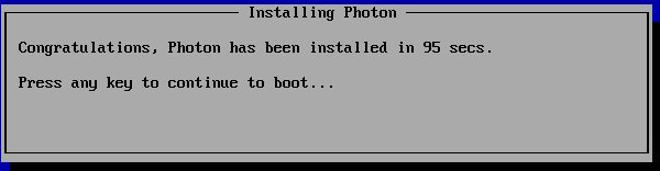 Photon Installing process window