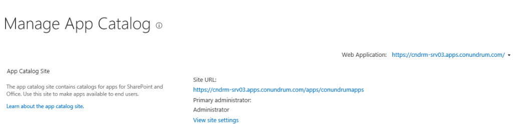 Sharepoint manage app catalog