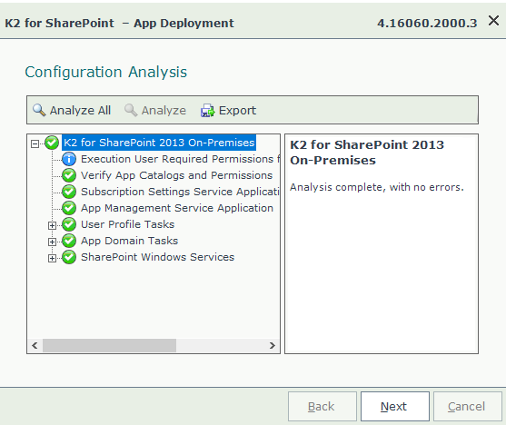 SharePoint App Deployment Configuration Analysis