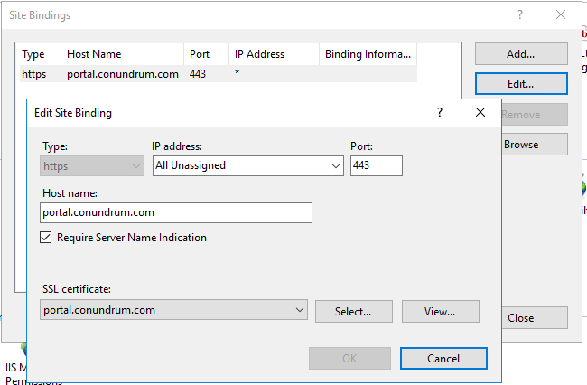 Sharepoint Edit Site Bindings