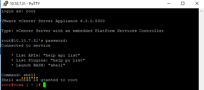 VMware vCenter Server Appliance (VCSA) and after install