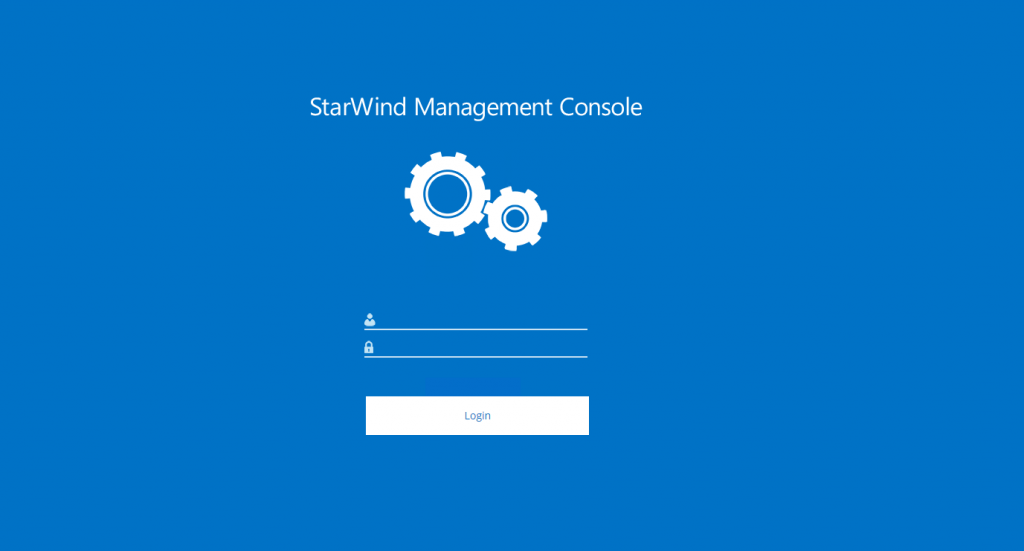 StarWind management console view