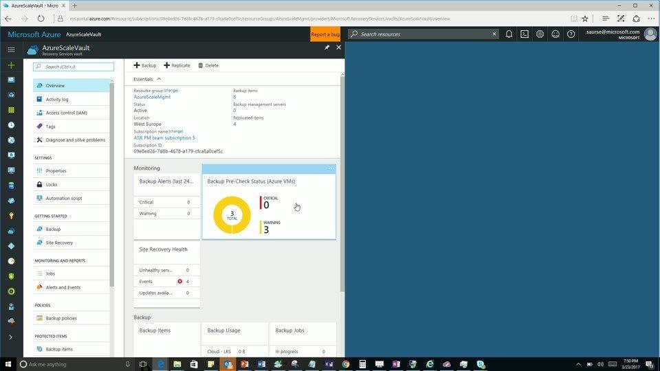 Microsoft Azure AzureScaleVault view