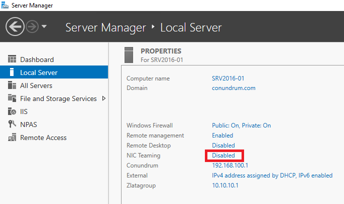 Using NIC Teaming with Windows Server 2016 | StarWind Blog
