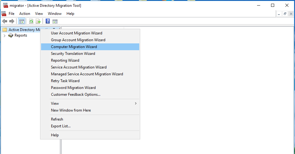 Intraforest Migration in Windows Server 2016 with Active