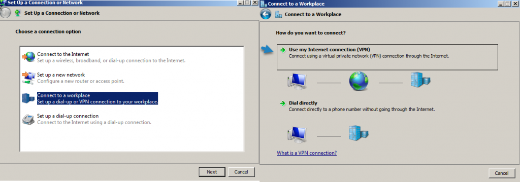 Configure VPN on the client side