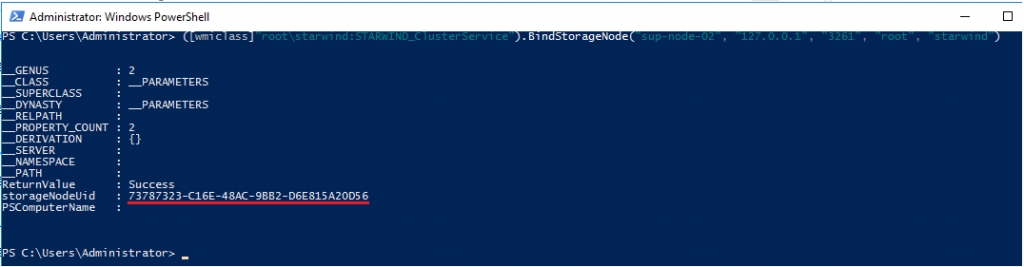 Adding a Storage Node to the StarWind Cluster via PowerShell