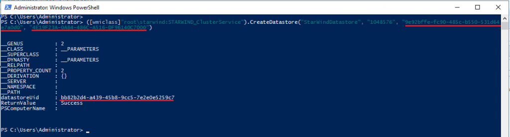 Creating a Datastore via PowerShell