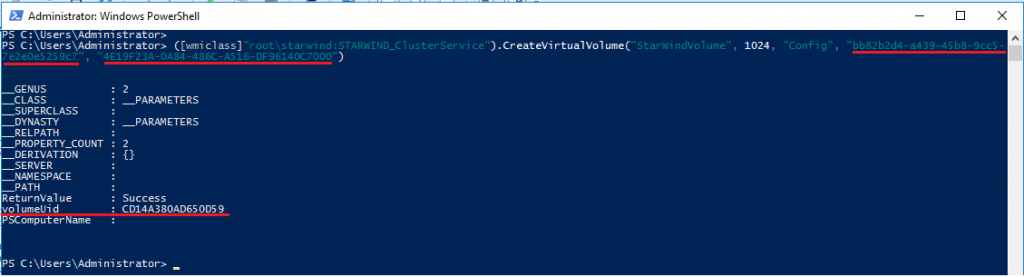 Creating a Virtual Volume via PowerShell